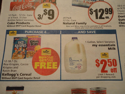 Food Lion Milk and Cereal Deal