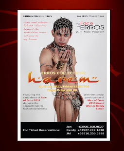 ERROS'HAREM'COLLECTION OPENING NIGHT AT BAR UNO, QUEZON CITY, SHOWTIME: 11PM, 4.29.11