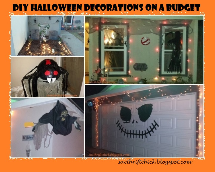 diy halloween decorations on a budget sac thrift chick