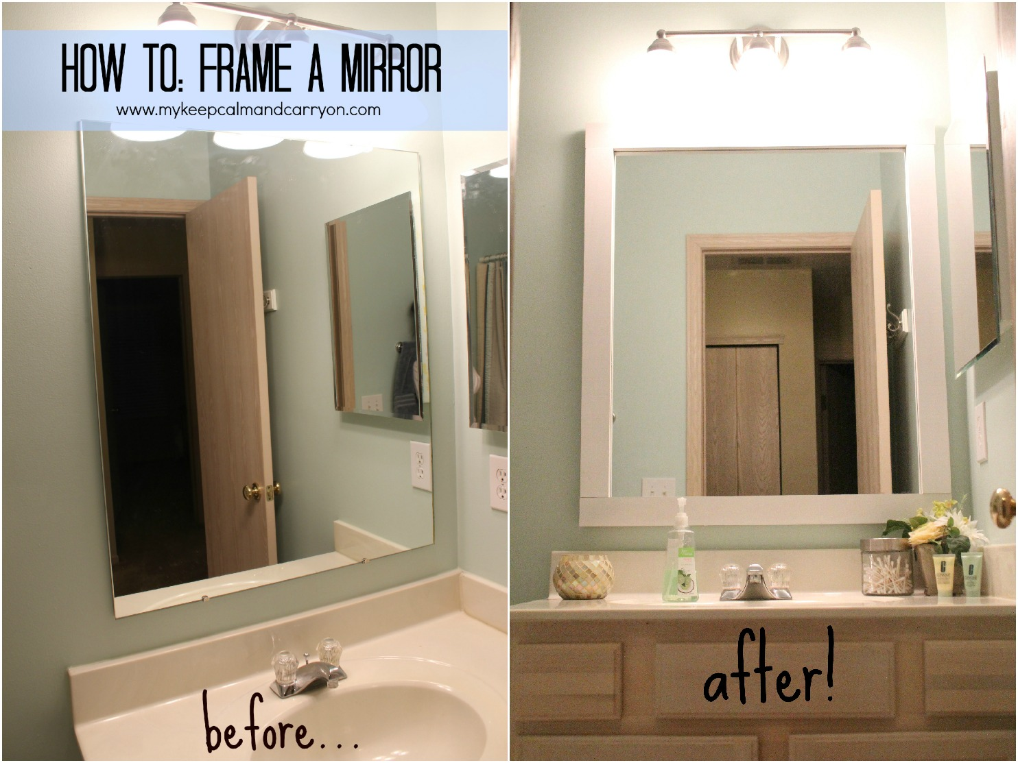 keep calm and carry on: spd: how to frame a mirror