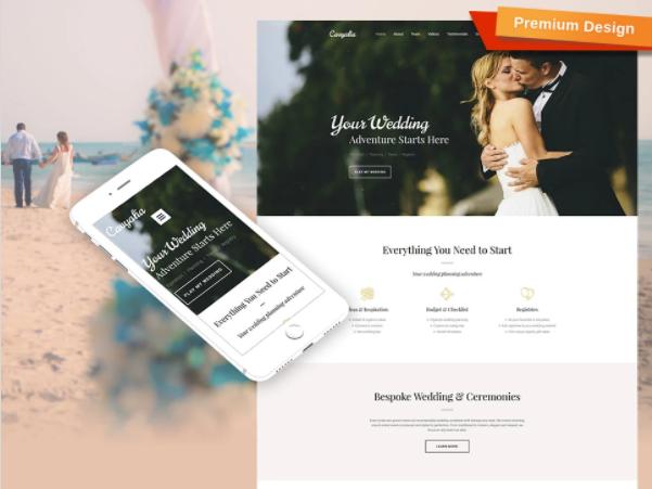 Website builder for wedding