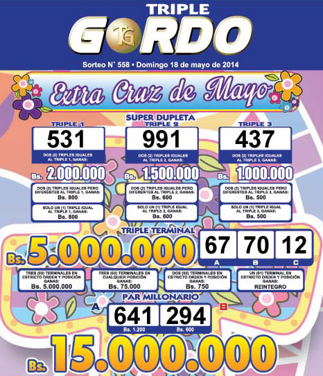 Triple Gordo Sorteo 558