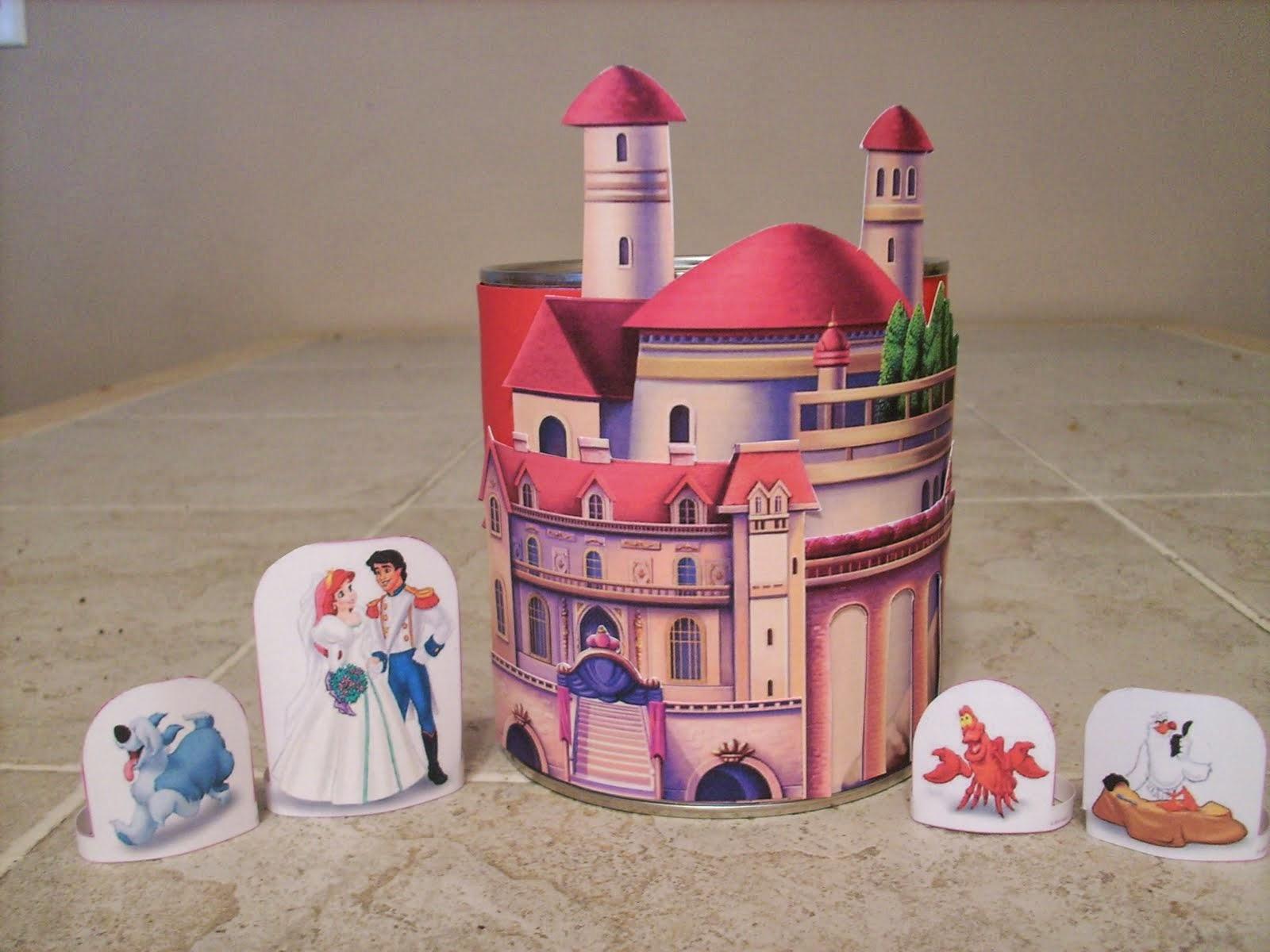 Bonito Castillo de Ariel para Imprimir Gratis.