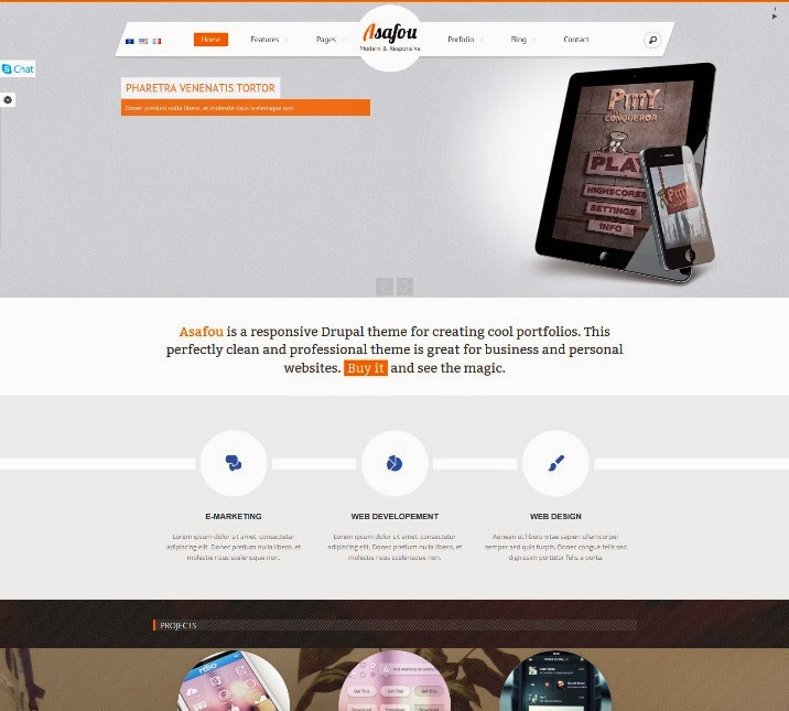 Asafou - Responsive Multi-Purpose Drupal Theme