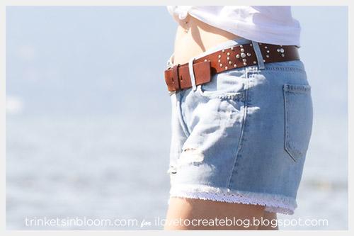 No Sew Lace Trim Shorts Ilovetocreate