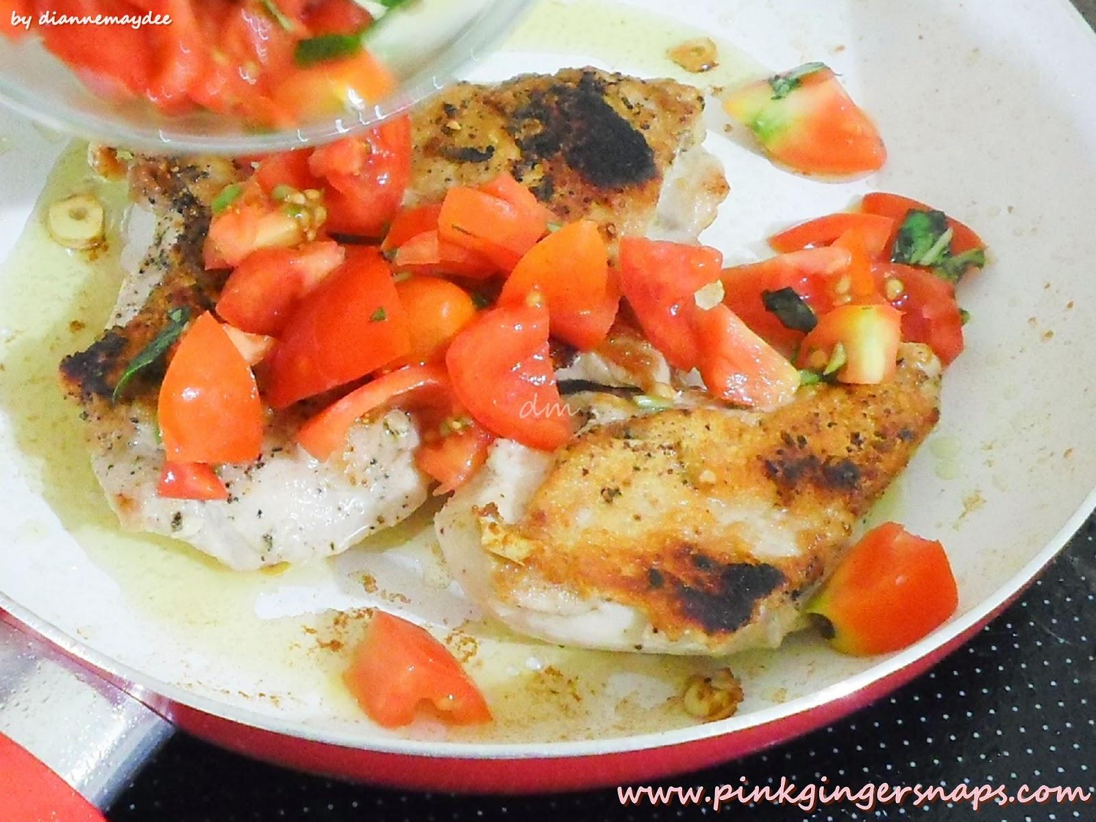 tomato basil chicken parmesan pinkgingersnaps