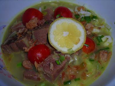 Resep soto daging santan resep masakan terbaru