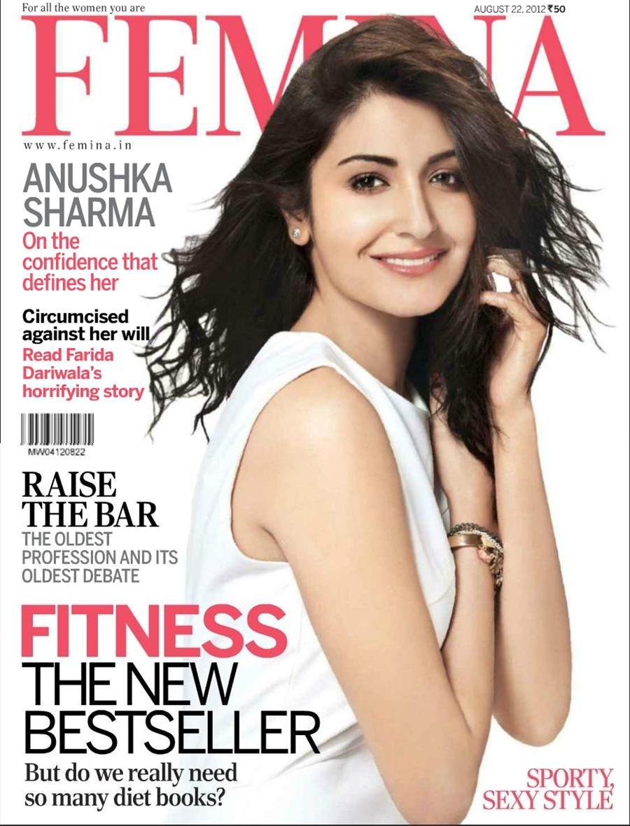 Anushka Sharma On The Cover Of Femina Magazine August 2012 Bollywood Actresses Magazines
