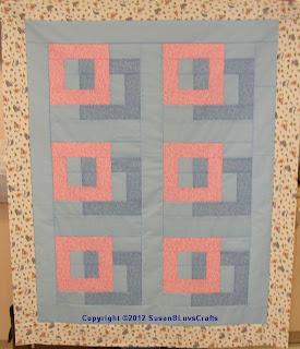 Squares Afloat quilt top - SusanB