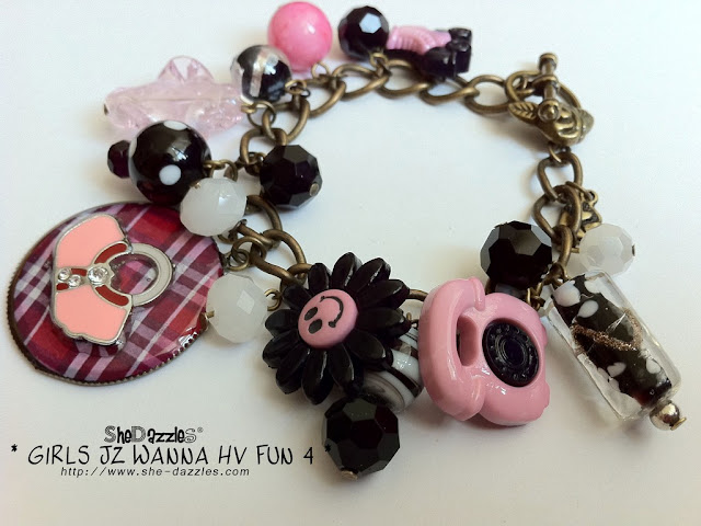charm-bracelet-pink-resin-ar295