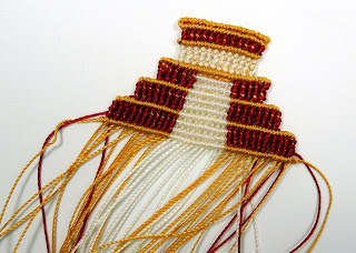 Micro macrame pyramid in progress.