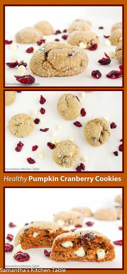 Healthy Pumpkin Cranberry Cookies