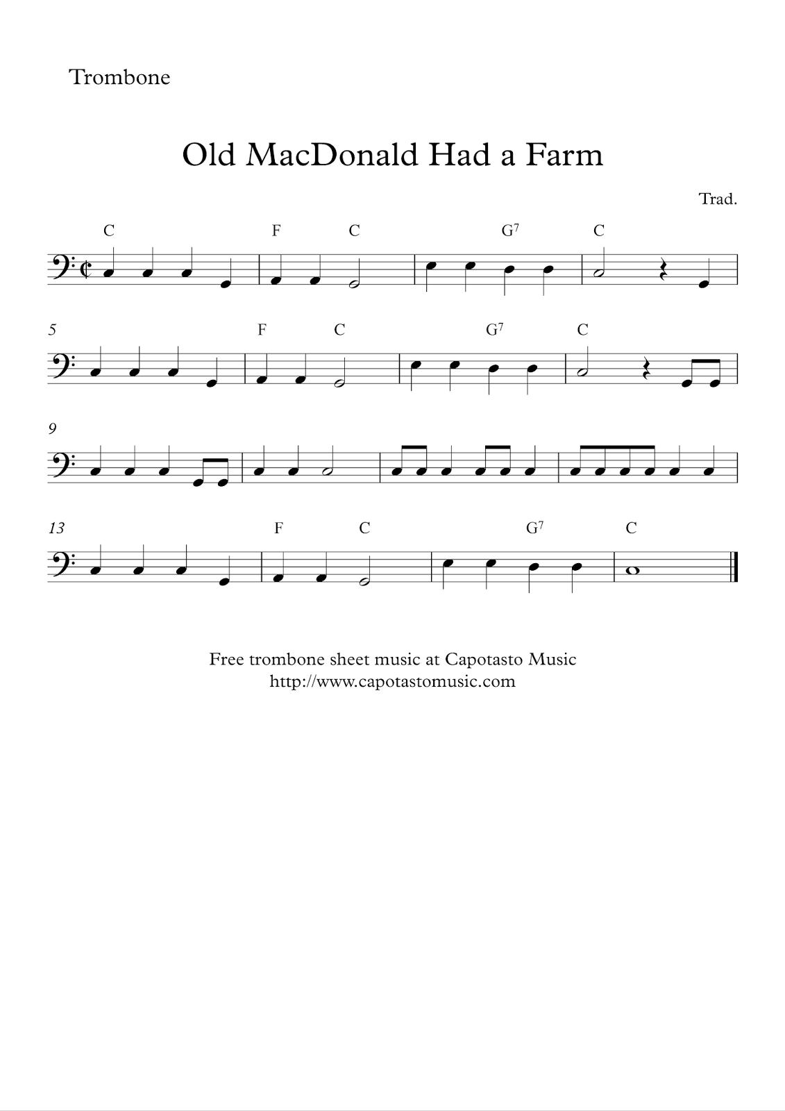 trombone sheet music