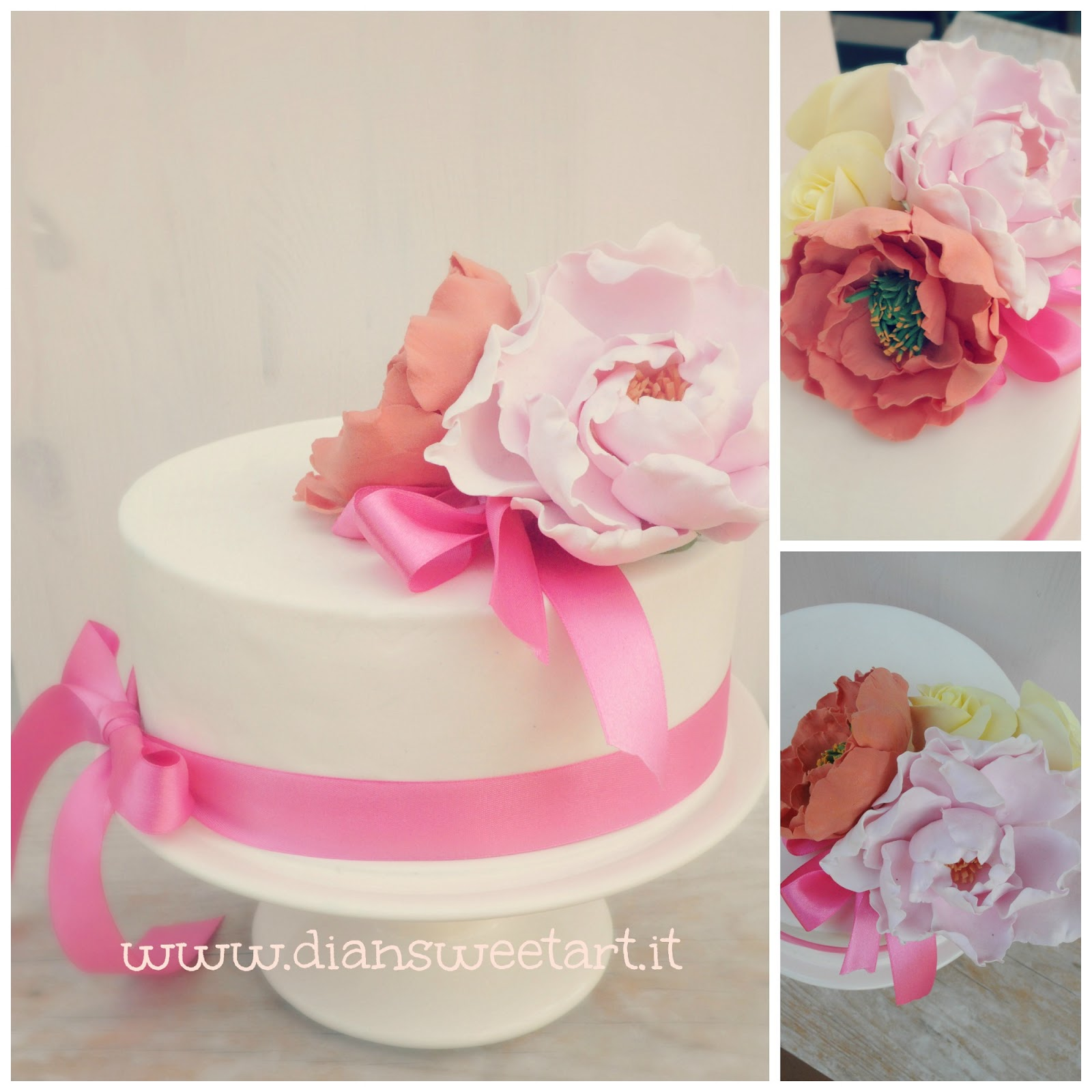 Belle Cake Topper and Mould: simple wedding cake