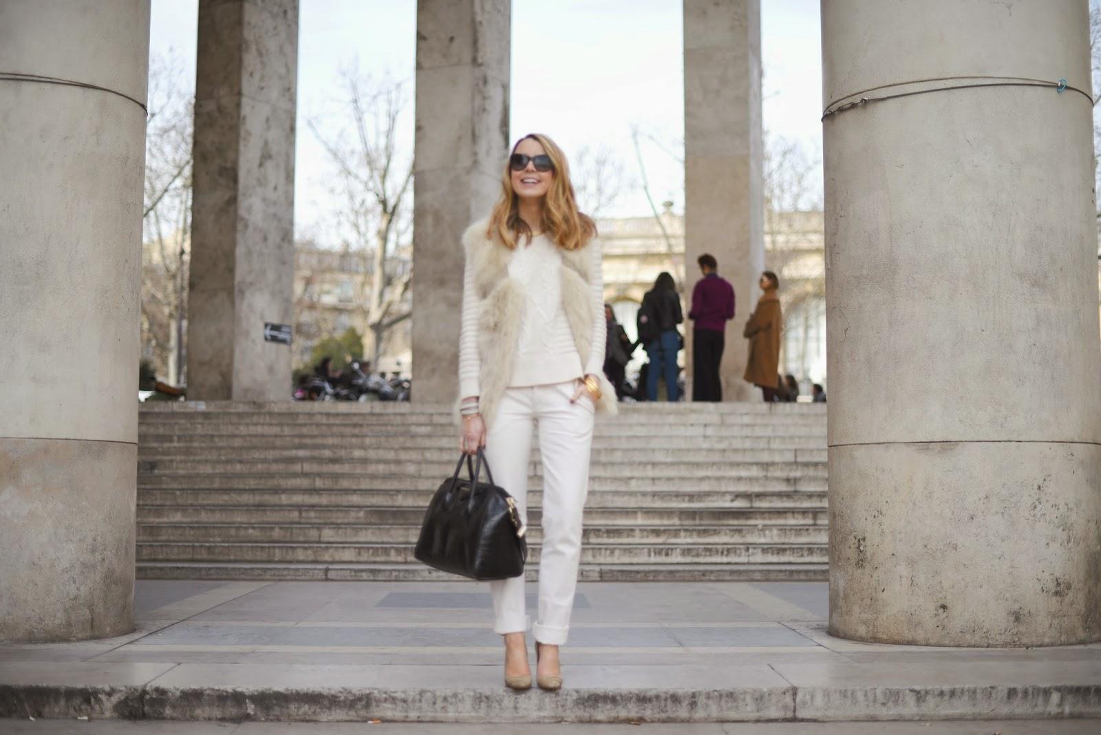 paris fashion week, all white, maje, sandro, isabel marant, givenchy, iro, pardon my obsession, streetstyle