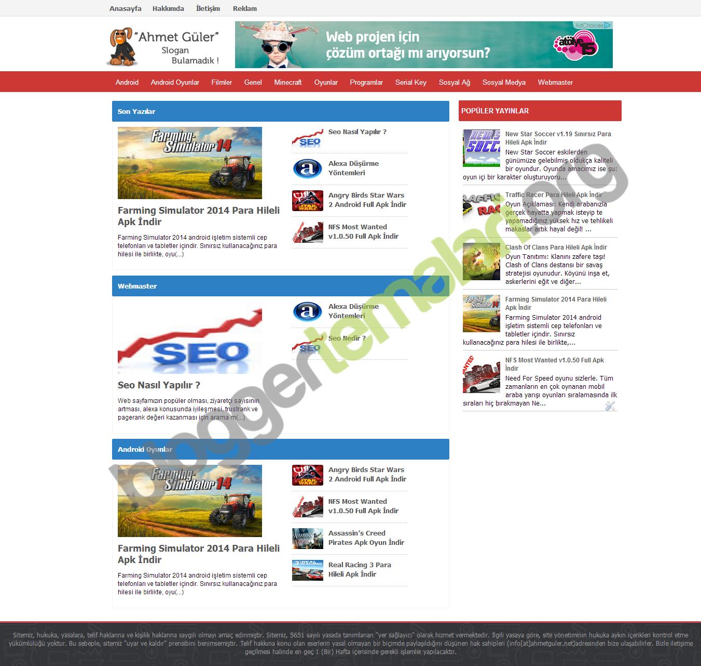 Webloti Blogger Portal Teması