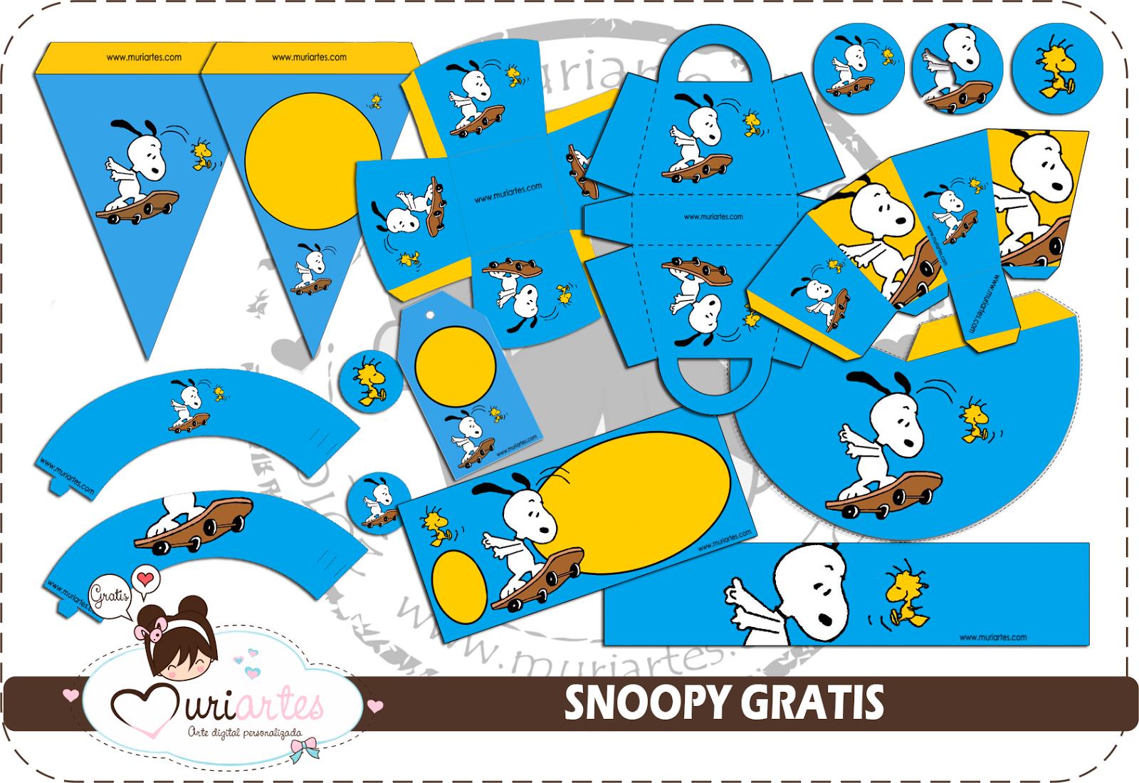 Kit de Snoopy para Imprimir Gratis. | Ideas y material gratis para ...
