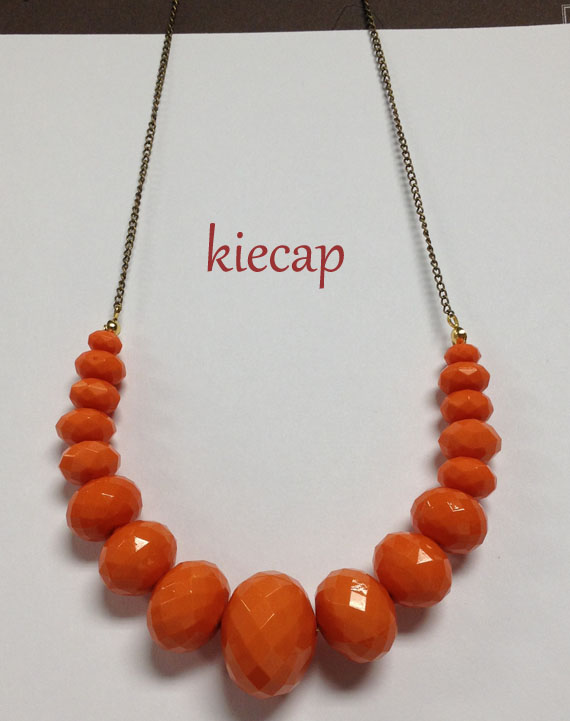necklaces, pumpkin colored, accessories,