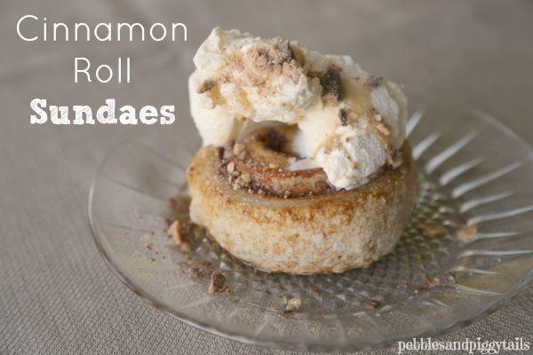 Cinnamon Roll Sundaes Recipe — Dishmaps