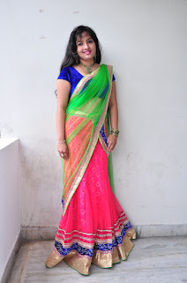 New actress Roshini half saree Picture shoot 036.jpg
