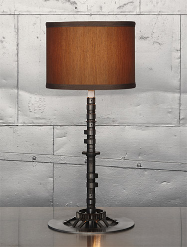 Classified Moto Camshaft Lamp This lamp is not just some anonymous piece of lighting hardware. It&#8217;s from a Japanese motorcycle and was made in the 70s.