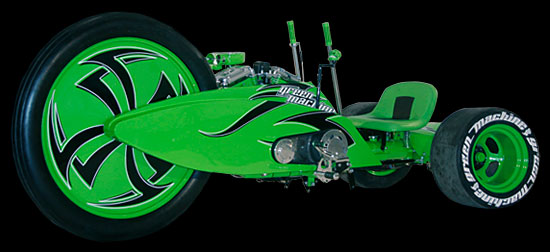 The also build the Green Machine, based on a brilliant kid's toy: