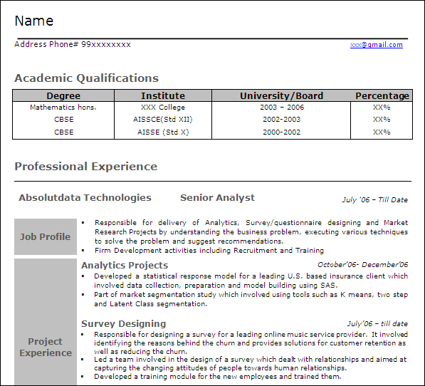 data analytics resume resume format download pdf