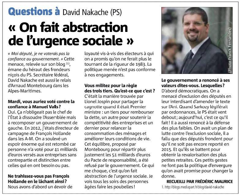 """David Nakache : """"On a fait abstraction de l'urgence sociale"""""""