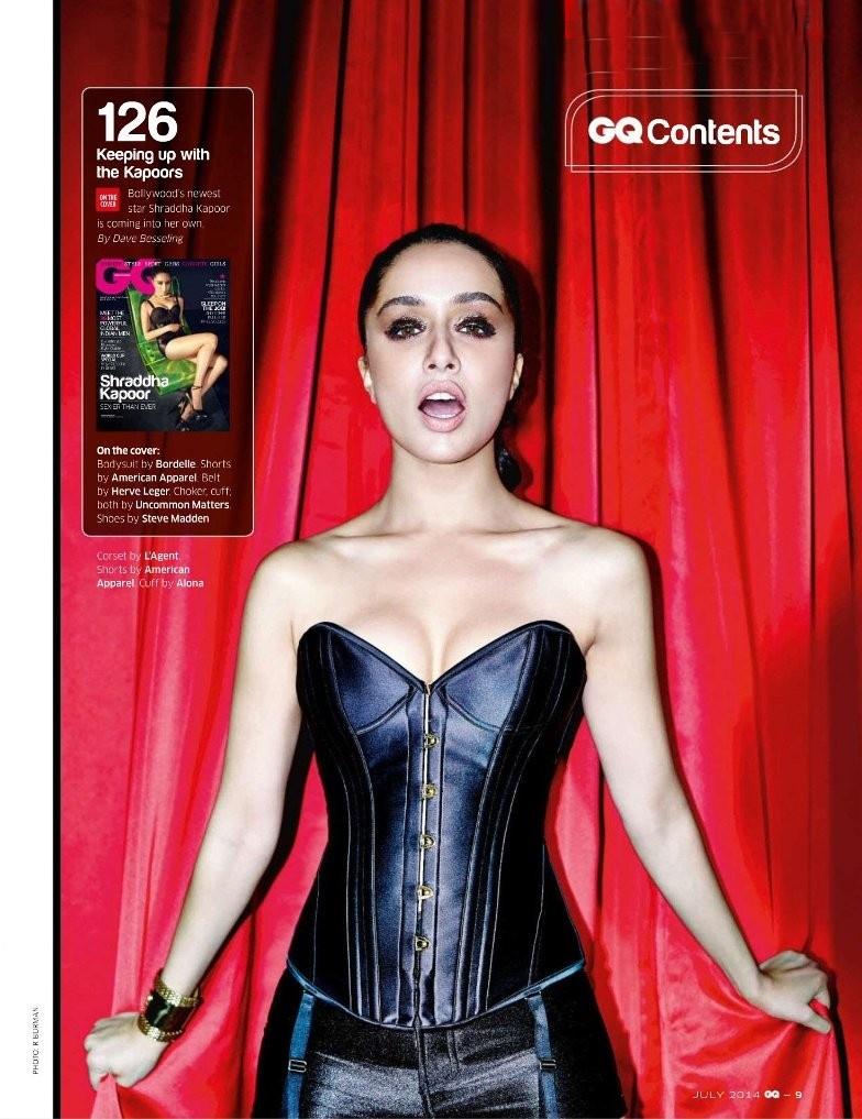 Shraddha Kapoor GQ India July 2014 Magazine