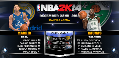 Euroleague 2K14: Real Madrid versus Zalgiris Kaunas