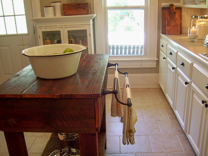 made from antique barn boards and that towel bar is so handy  heir and space  tables as kitchen islands  rh   heirandspace blogspot com