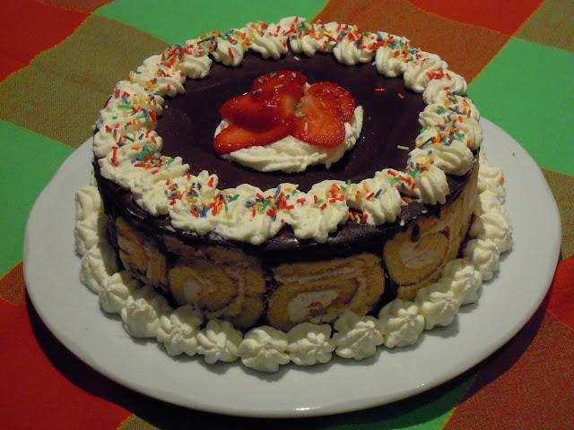 Tarta mousse de crema de chocolate con thermomix®