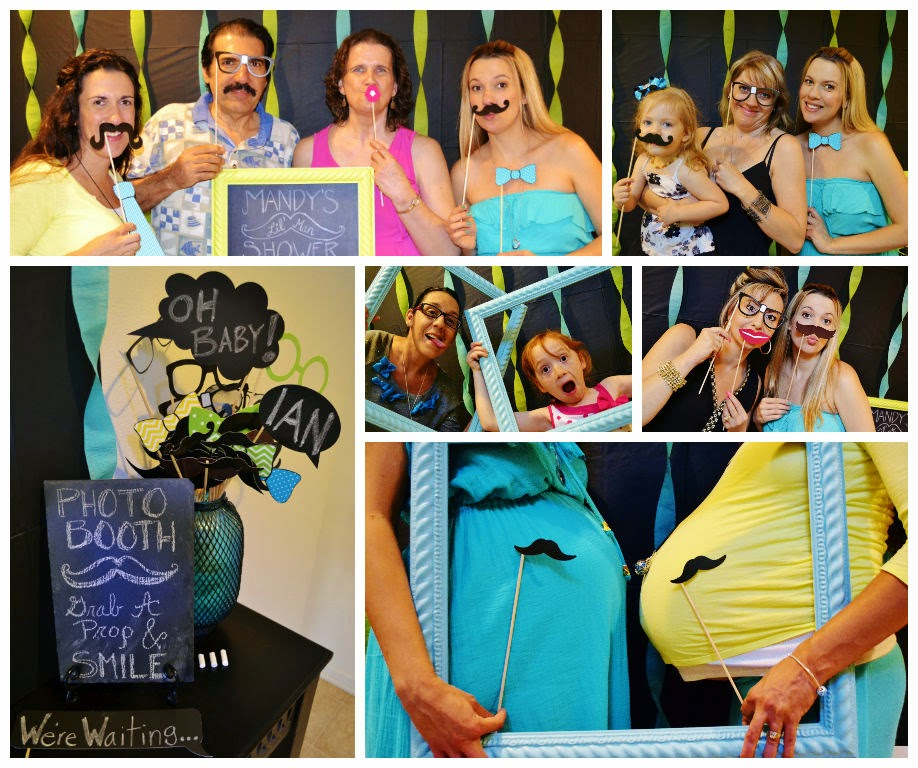 Mustache Baby Shower Photo Booth