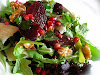 Beetroot, Leek and Walnut Salad