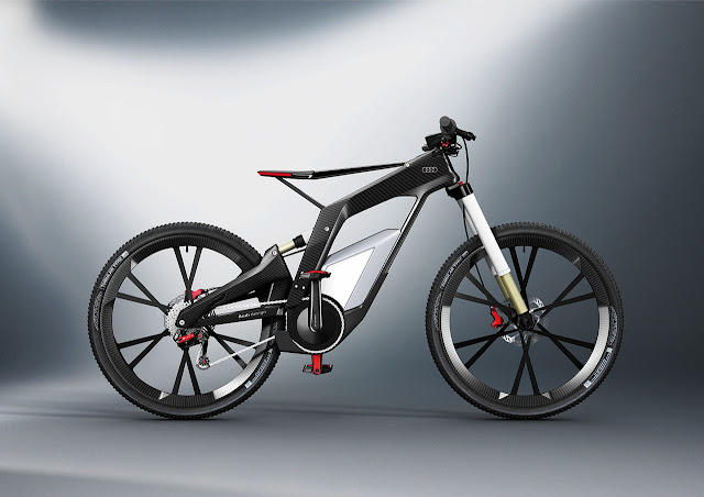 the Audi e-bike Wörthersee right side
