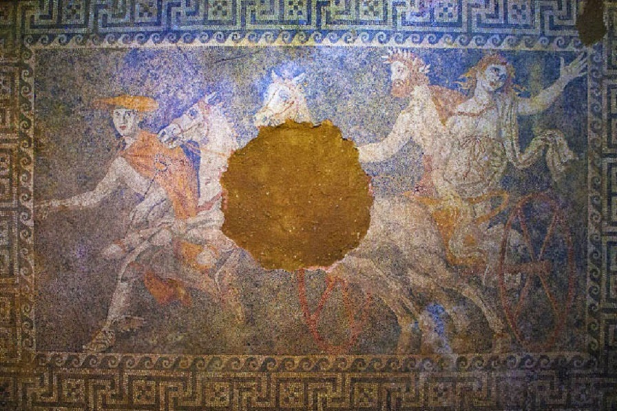 Amphipolis mosaic portrays Abduction of Persephone - The ...