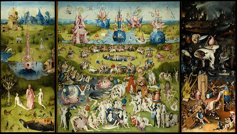 The Garden of Delights by Hieronymus Bosch in the Prado Museum in Madrid