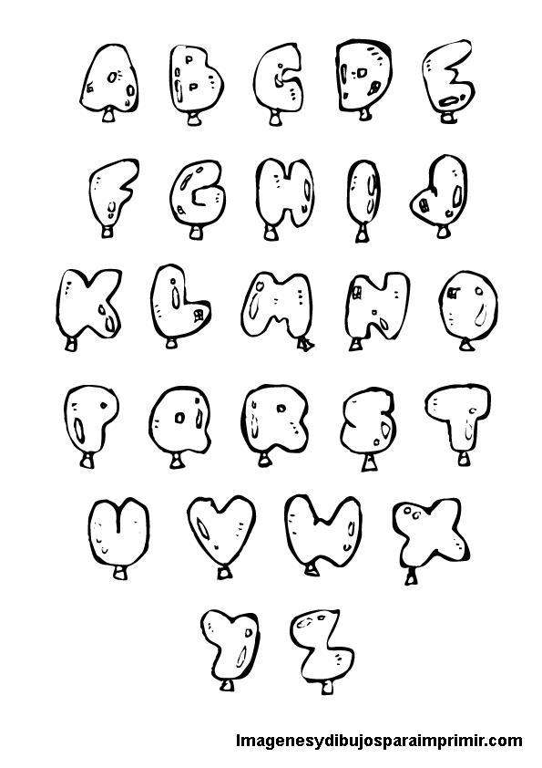 Imagenes de abecedarios para colorear