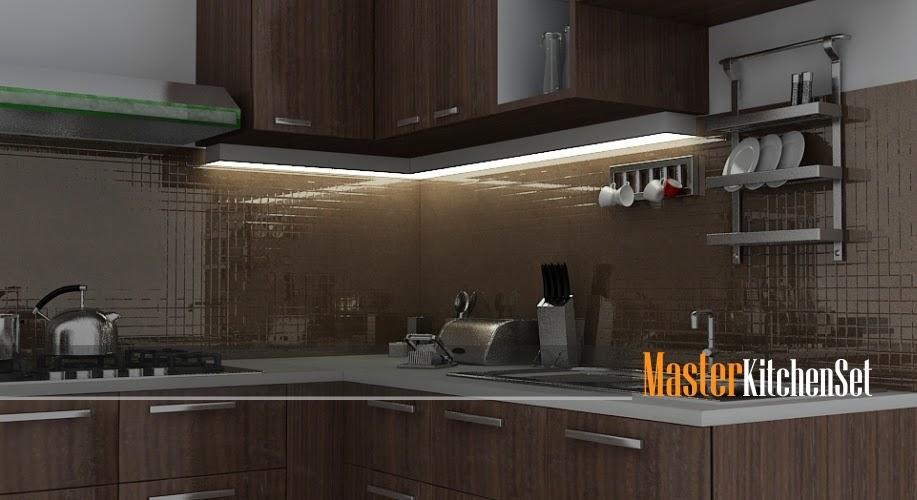 Kitchen set solo gallery blog master coklat 1c