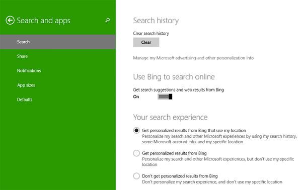 Để tìm kiếm tốt hơn và nhanh hơn trên Windows 8.1 6