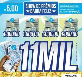 64ª EXTRAÇÃO DO SHOW DE PRÊMIOS BARRA FELIZ