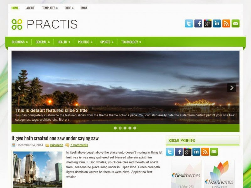 Practis - Free Wordpress Theme