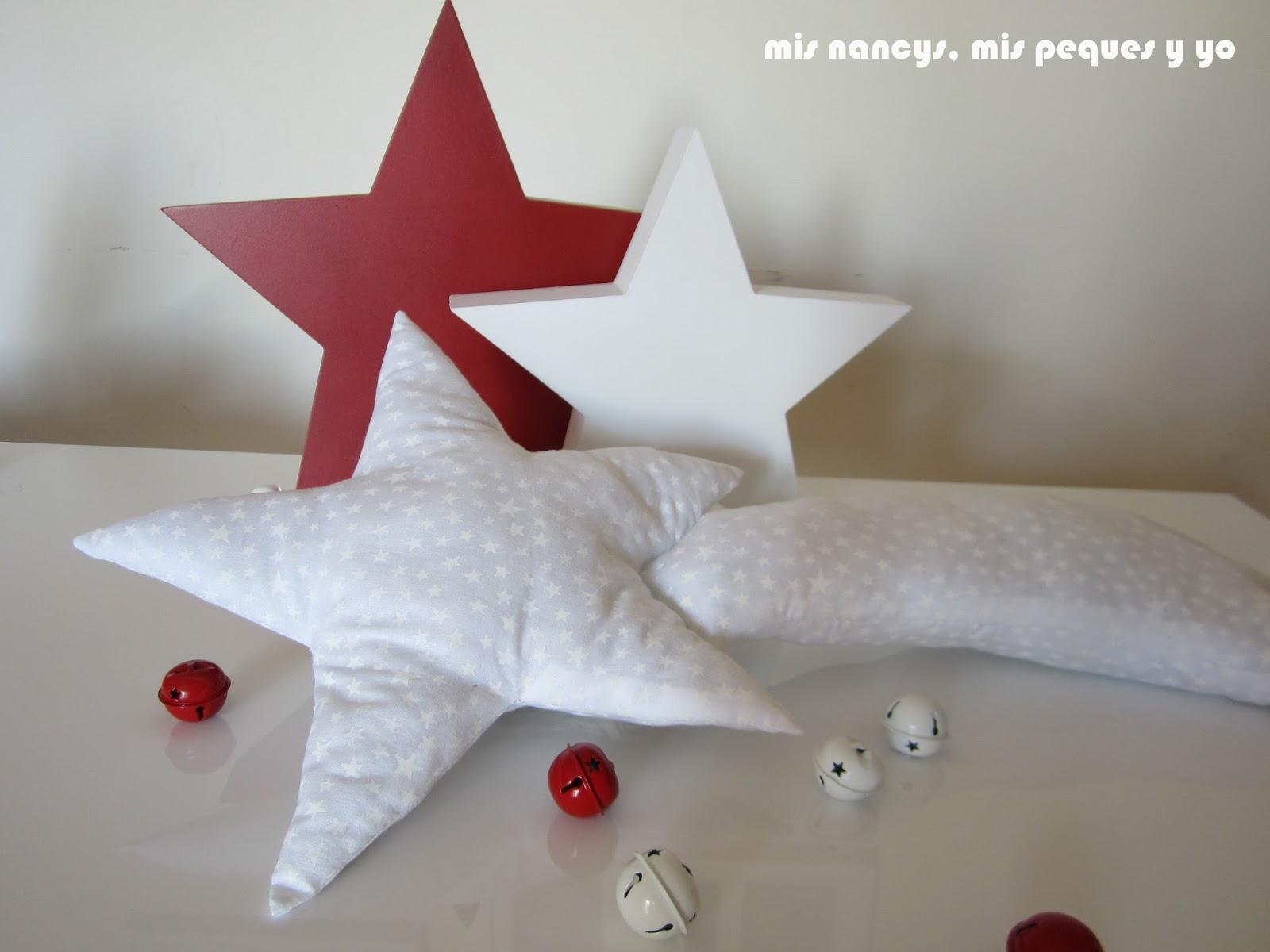 mis nancys, mis peques y yo, tutorial DIY cojín con forma de estrella