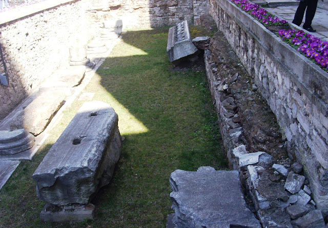 Burial remains in front of the Hagia Sophia Museum