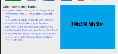 Sample Related Post and Banner Ads Side by Side below every Blogger Blog Post