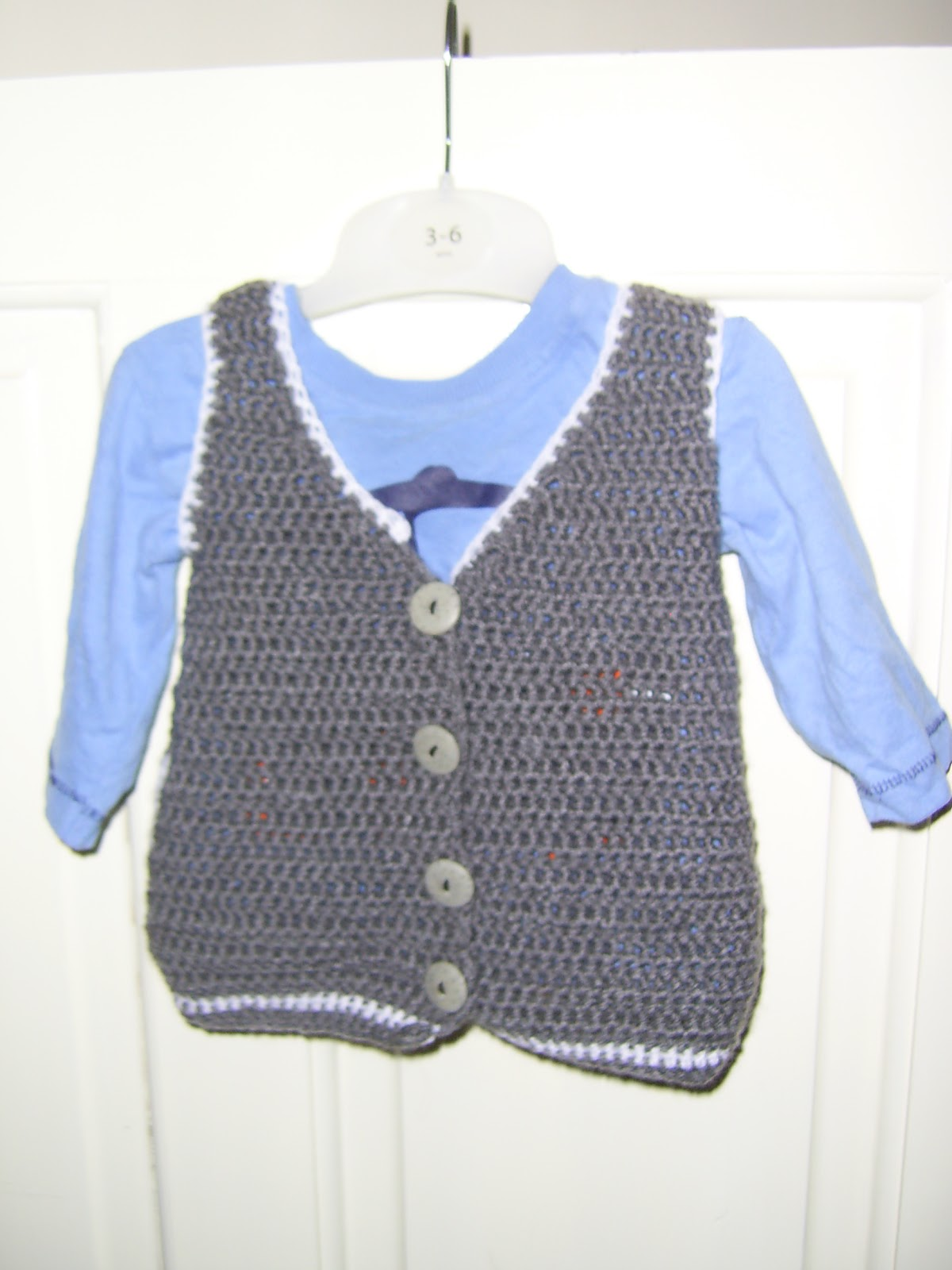Free Crochet Vest Pattern For Child : Mauv is Crafty: Little boys Crochet Waistcoat