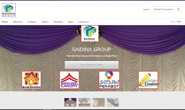 Pelancaran Laman Web Saidina Group Shopping Online