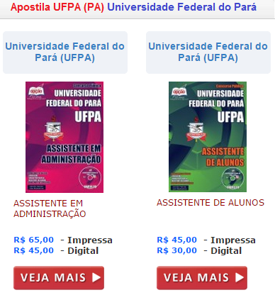 Apostila Concurso Universidade Federal do Pará (PA),2015