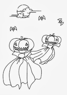 Halloween Ghosts for Coloring, part 2