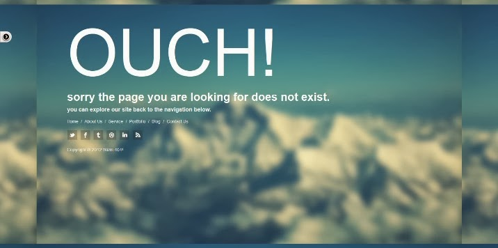 25+ Best 404 Error Page Templates - Webprecis